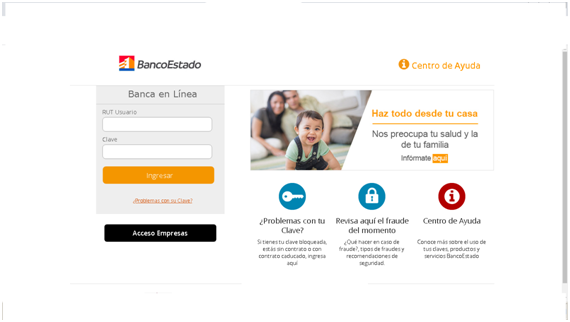 Averiguar saldo en línea en Banco Estado