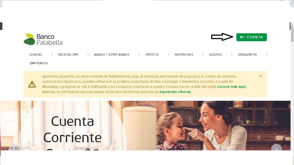 Banco Falabella Cuenta Vista: Consulta de saldo