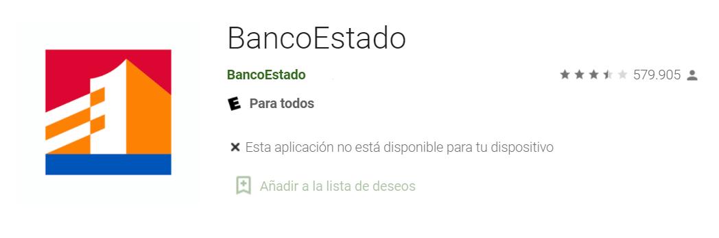 BancoEstado App - Fuente: Google Play Store